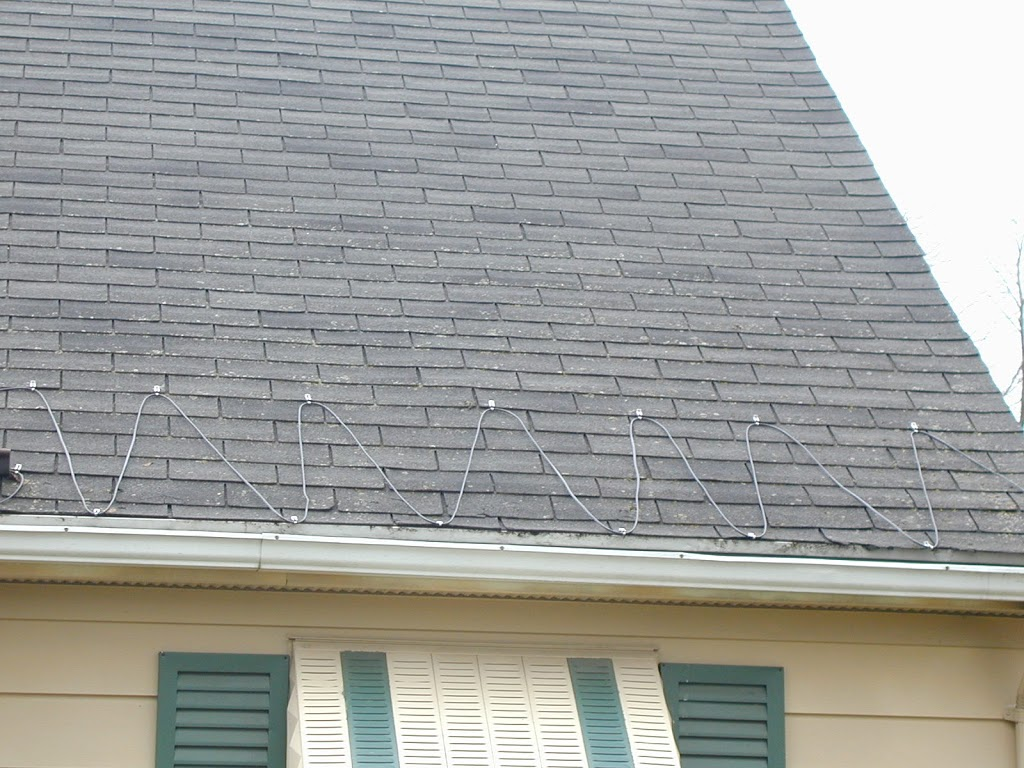 Electric Heating Cables For Downspouts : Roof and gutter heating cable mor electric s